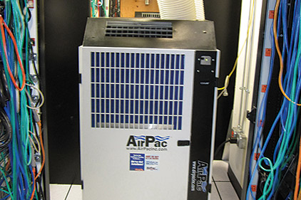 Portable cooling has become increasingly popular in server rooms, where it can help keep expensive and sensitive computer equipment running. (Photo courtesy of AirPac)
