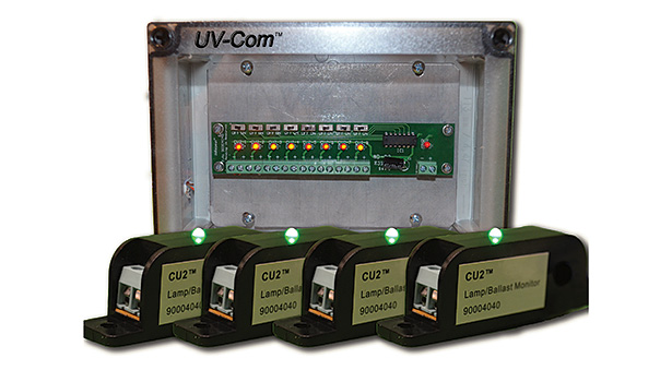 Multiple lamp/ballast sensors can send one signal to the building management system to represent any number of lamp/ballast combinations.