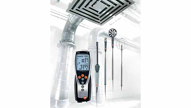 The Testo 435 is used for monitoring, analyzing, and diagnosing indoor air quality. (Image courtesy of Testo USA Inc.)