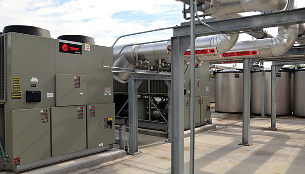 Trane chiller plant upgrades with thermal energy storage at thirteen St. Lucie County School District sites have resulted in lower operating expenses, with average annual utility costs reduced 30-40 percent. (Photo courtesy of Trane)
