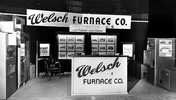 Butch Welsch, owner, Welsch Heating & Cooling, St. Louis has seen many changes during his 51 years in the HVAC industry, including those at home shows. Pictured is Welchâ??s booth display from a show in 1956.