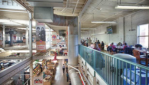 Columbus' North Market was never short on smells. The facility's band of merchants, including produce, retail, and food stands contribute to the market's ambiance and defines its uniqueness.
