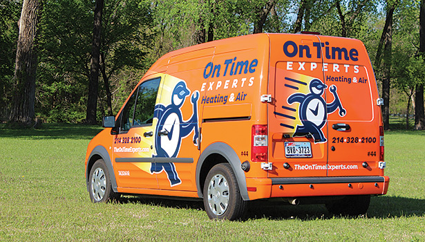 On Time Experts, Dallas, offers an �¢??on time or it�¢??s free�¢?? guarantee to customers.