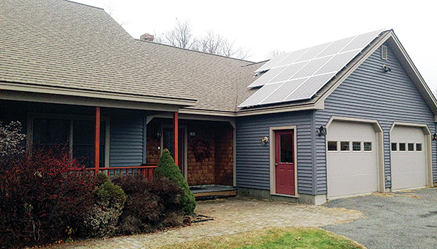 Insource Renewables designed and installed this PV system for a home in Benton, Maine, to help alleviate the homeownerâ??s energy demands and reliance on fossil fuels.