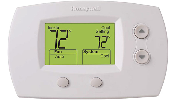 The Honeywell FocusPRO 5000 features a large, clear, backlit digital display and is available in large or standard screen sizes.
