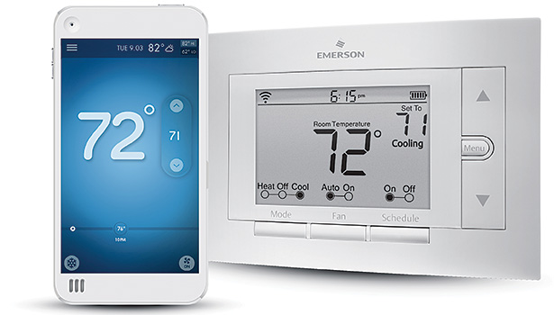 The Wi-Fi-enabled thermostat connects customers to their home comfort, anytime, anywhere.