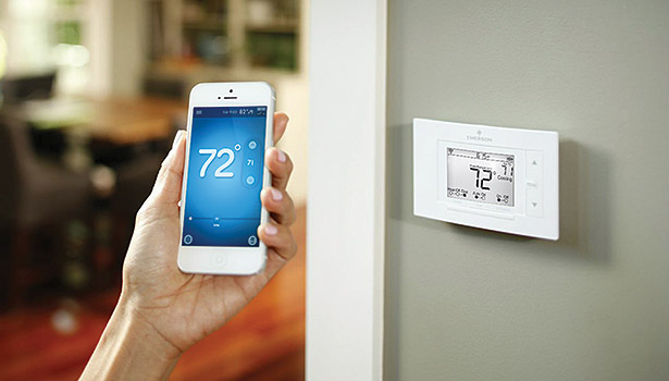 Wi-Fi-enabled thermostats allow homeowners to access and adjust their temperatures anywhere using a smartphone or tablet and take energy efficiency into their own hands. (Photo courtesy of White Rodgers)