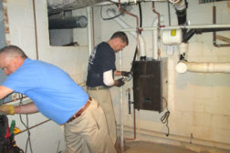 installation of Eternal hybrid water heater