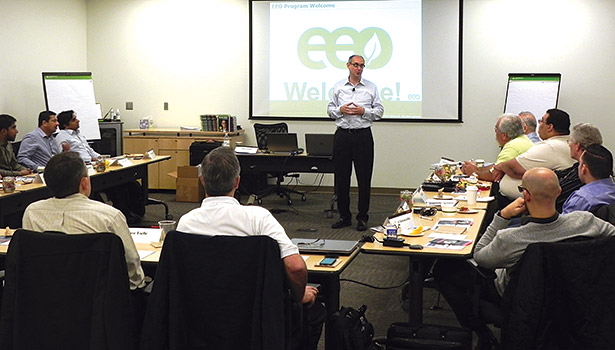 Jewell discusses energy efficiency sales techniques during Honeywell Intl.â??s Energy & Environmental Optimization Program (EEO).