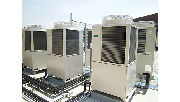 Panasonic Air Conditioning Groupâ??s VRF equipment is pictured above after an installation in Dawson Springs, Kentucky. (Photo courtesy of Panasonic Air Conditioning Group)