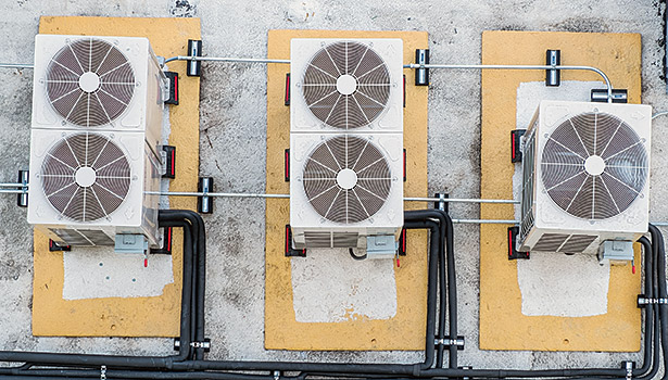 The top view of Samsung DVMS Heat condensing units that serve La Sierra Universityâ??s commons area. (Feature photos courtesy of Jeff Ledsinger)