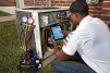When troubleshooting a compressor, apps like the HVACR Fault Finder app and Copelandâ?¢ mobile app from Emerson Climate Technologies can help service technicians determine the possible causes of the compressor failure.