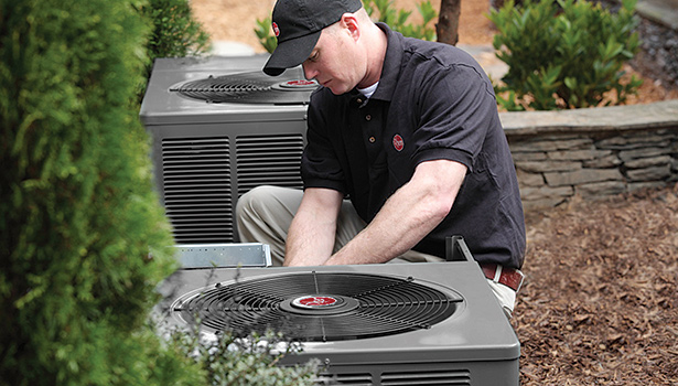 New regional energy conservation standards take effect Jan. 1, 2015, for split-system and single package central air conditioners sold and installed throughout the U.S. (Photo courtesy of Rheem)