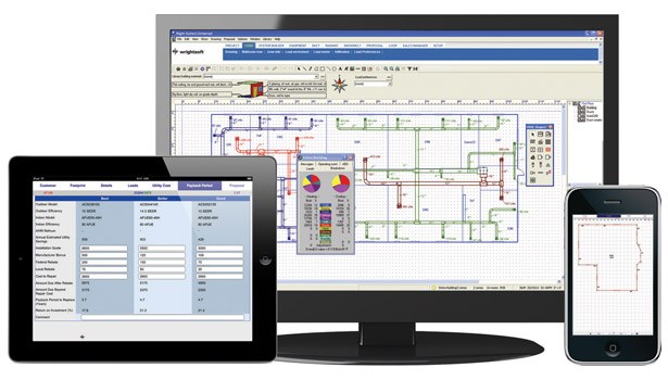Right-Suite Universal from Wrightsoft is designed to help users accurately calculate residential and commercial loads, among many other functions.