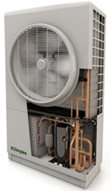 air-source heat pump with flash defrost