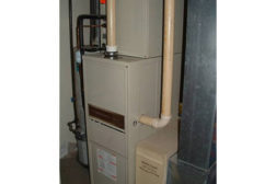 Positive pressure condensing appliances use Category IV vents which can be PVC or CPVC.