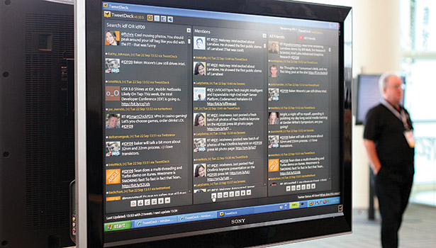 TweetDeck allows users to manage multiple social media accounts on one central hub. It can be used to schedule tweets, Facebook posts, and also see how much activity each account is receiving. (Photo courtesy of Niall Kennedy, http://bit.ly/1xYoneL)