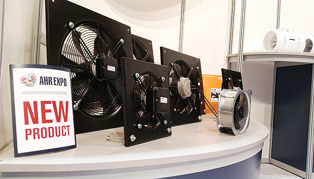 Continental Fan Mfg. showcased its new line of motorized axial fans at the 2015 AHR Expo in Chicago.
