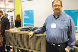Bryan Rocky, director of residential product development, Johnson Controls at the AHR Expo.