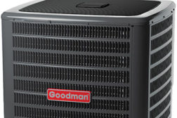 Goodmanâ??s 18 SEER split system heat pump.