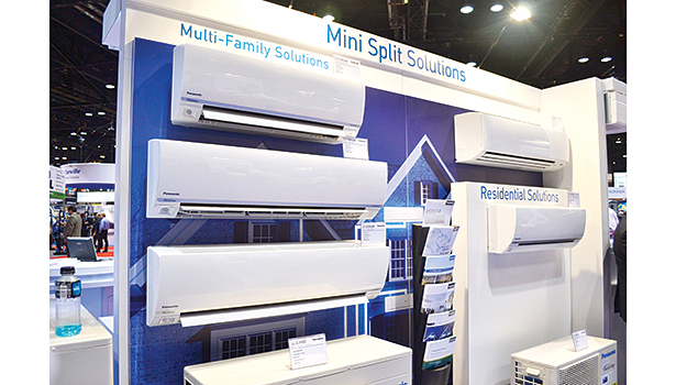 Panasonic unveiled its new Exterios E wall-mounted heat pumps at the AHR Expo, which feature up to 23.0 SEER and have a low ambient operation as low as minus 4�° F.