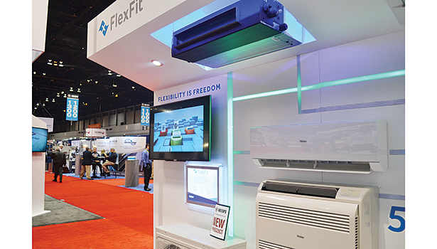 Haier Americaâ??s new FlexFit series includes 16 units that can be combined to create more than 1,000 HVAC solutions, which can help distributors and contractors reduce inventory by up to 50 percent.