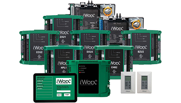 The iWorx control platform from Taco Inc. features touch-screen controls, Wi-Fi connections, and ready automatic updates via an app.