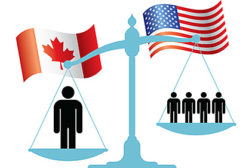 While Canadaâ??s federal government is considering a 1:1 ratio of journeymen to apprentices on a job site, the U.S. often favors a four journeymen to one apprentice ratio.