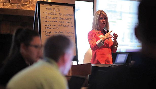 Nexstar Business Coach Jodi Peter facilitates a business planning workshop with contractors in September 2014 to help them plan their growth in 2015. (Photo courtesy of Nexstar Network)