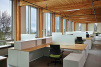 An interior office space occupies part of the six-story, 50,000-square-foot Bullitt Center building in Seattle.