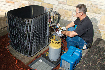 Refrigerant recovery is the essential first step in the reclamation process.