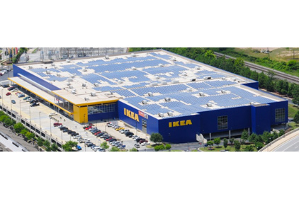 IKEA store with solar rooftop system