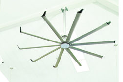 Big Ass Fansâ?? Essence is available in an array of customizable finishes and is the latest in the companyâ??s line of high-volume, low-speed (HVLS) overhead fans for use in commercial or public spaces.