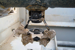 Scale buildup on the nozzles, due to a combination of water with high mineral content and no water treatment, can cause blockages in the water distribution system.