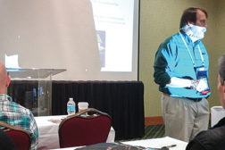 Steve Wagner, Liebert Systems, provides instructors with training on new data center cooling technologies.