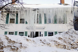 Ice damming is a huge problem for improperly insulated homes. Jim Godbout Plumbing, Heating, and Air Conditioning, sells more insulation jobs than HVAC jobs during the winter.