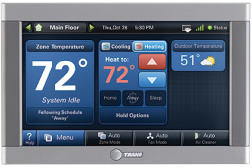 Trane�¢??s ComfortLink�¢?�¢ II XL950 is an advanced control with a 7-inch touchscreen and Wi-Fi connectivity. It connects with Trane�¢??s TruComfort�¢?�¢ variable-speed systems and is zoning capable for up to eight zones.