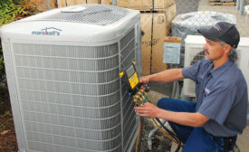 The phaseout of R-22 is causing more of Marshall Inc.â??s customers to replace their existing heat pumps, as most older systems are not worth the expense of replacing the compressor.