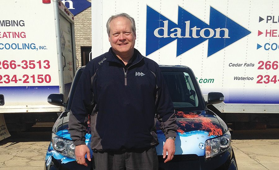 Dave Krejchi, president of Dalton Plumbing, Heating & Cooling Inc. in Cedar Falls, Iowa, equips each of his techs with hygrometers, which allows them to demonstrate the exact air moisture level to homeowners.