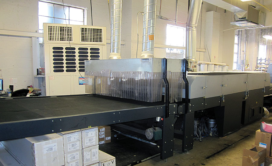 PRINTING PRODUCTION: In this application, cooling is installed right at the printing process to minimize scrap and increase production. PHOTO COURTESY OF AIRPAC