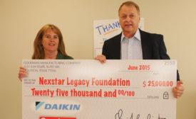 Goodman Donates $25,000 to Nexstar