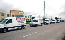 John Moore Home Services trucks set out to deliver special children�¢??s books and teddy bears to 12 Houston area elementary schools as part of the company�¢??s 50th anniversary celebration.
