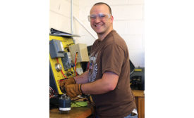 THE HANDYMAN CAN: Matt Morris, 30, began his technical education in August 2014 and will complete it in May 2016. Upon graduation, Morris hopes to find a job in the HVAC field, become certified, and, eventually, run his own business.