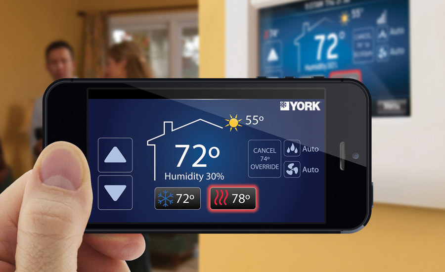 The Wi-Fi-capable York Affinity Residential Communicating Control provides homeowners with remote access to the control system from their smartphone or tablet.