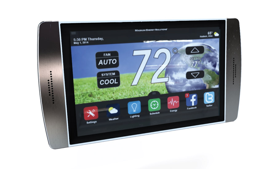 The new Root thermostat from Magnum Energy Solutions, featuring a 7-inch capacitive touchscreen, will be available to the market by Christmas 2015.
