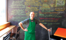VEGAN PARADISE: Austin Ruesch, owner of Helio Terra Café in Cleveland, has faced various refrigeration challenges at his new restaurant.