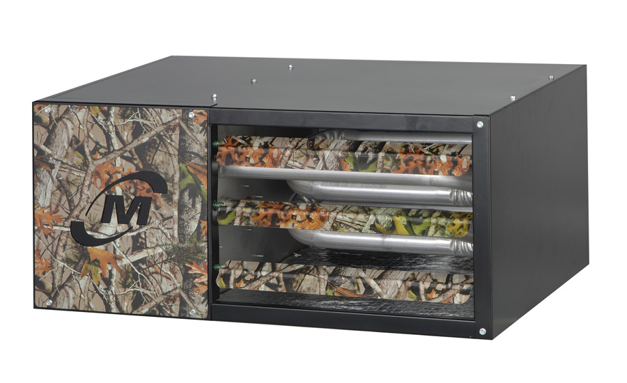 Hot Dawg: Special Edition Hot Dawg unit heater with Huntin Dawg, Diamond Dawg, and Carbon Fiber appearance packages