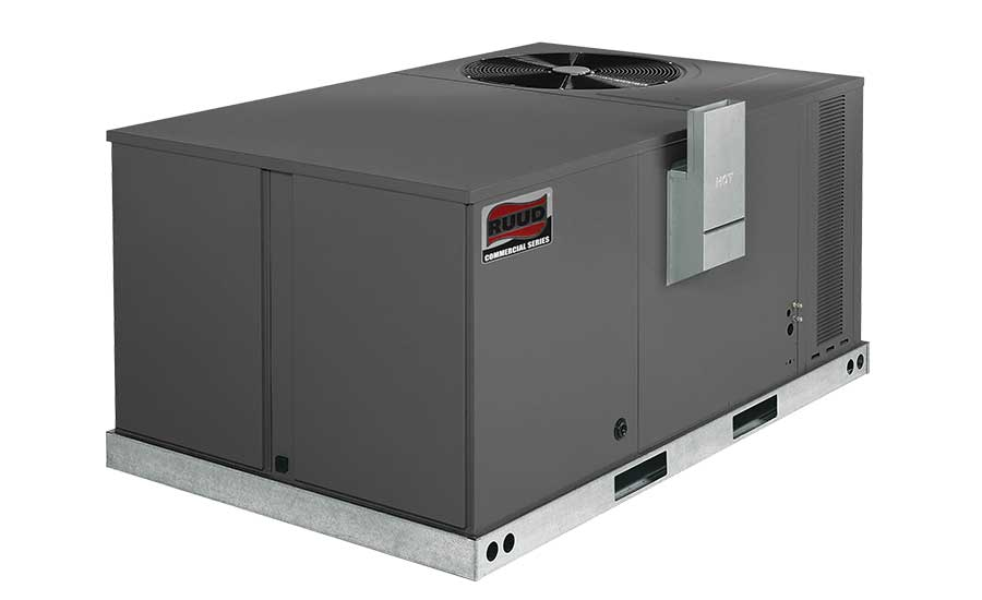 Ruud  Model: RKPN-C Commercial Achiever® Series packaged gas/electric unit