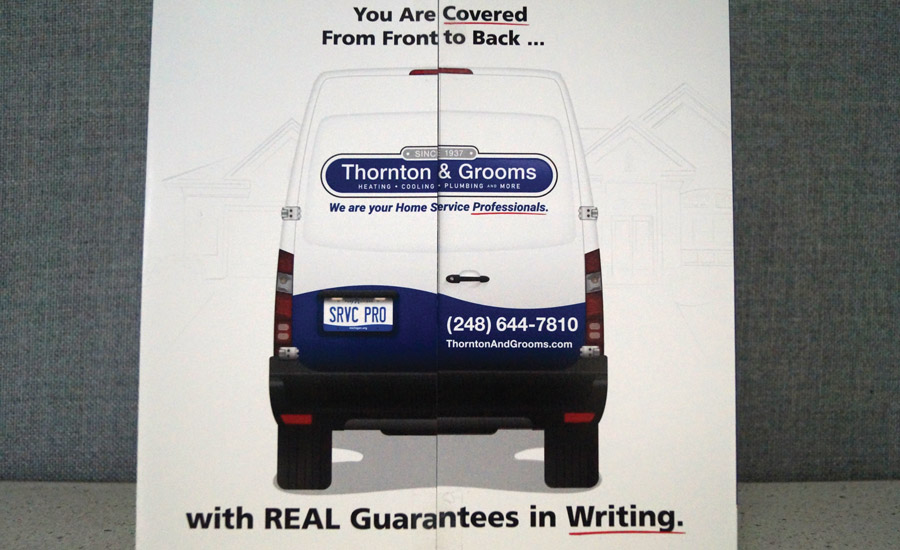REBRANDING CUSTOMER SATISFACTION: Thornton and Grooms refreshed its customer guarantees and created a new brand call 'The Real Guarantee.' Details are available at http://realguarantees.com.