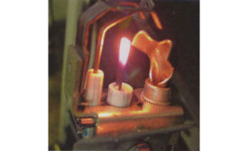 This is an example of a hot surface igniter glowing hot enough to ignite the pilot light.